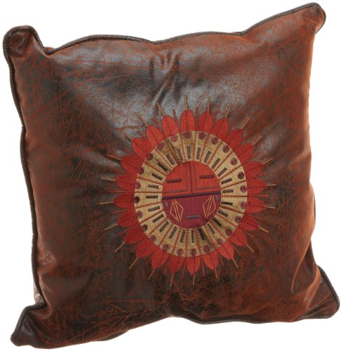Croscill Plateau Fashion Pillow, 18-Inch By 18-Inch, Brown front-1009823