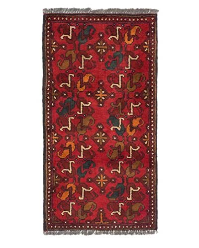 Hand-Knotted Finest Khal Mohammadi Wool Rug, Red, 1' 8 x 3' 2 Runner
