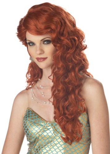 California Costumes Women's Mermaid Wig,Auburn,One Size