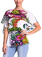 Desigual Blusa Well (Blanco / Multicolor)