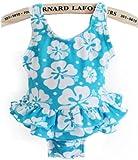 アメリカ Kids Swim wear ベビーワンピース水着 スイムウエア blue Flower size:60cm~110cm
