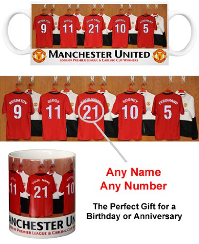 Manchester United FC Personalised Mug - Football Gifts