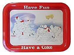 Have Fun Have a Coca Cola Polar Bear Metal Serving Tray