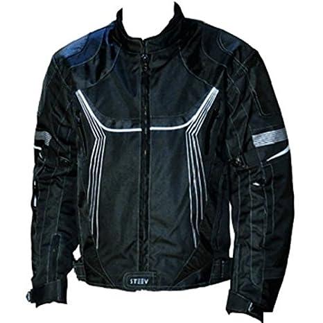 Blouson moto STEEV XTREM V2 - Textile - Noir