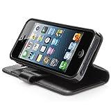 CAPDASE 日本正規品 iPhone5s / 5 Folder Case Sider Classic, Black フォルダーケース サイダー・クラシック, ブラック よこ開き ブックタイプ ケース (スタンド機能、カードホルダーつき) FCIH5-SC11
