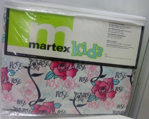 Martex Kids Microfiber Full Sheet Set Rose Rose front-439377