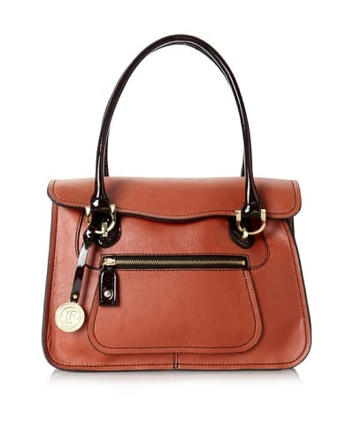 London Fog Women's Sullivan Flap Top Handle Bag  [Brick]