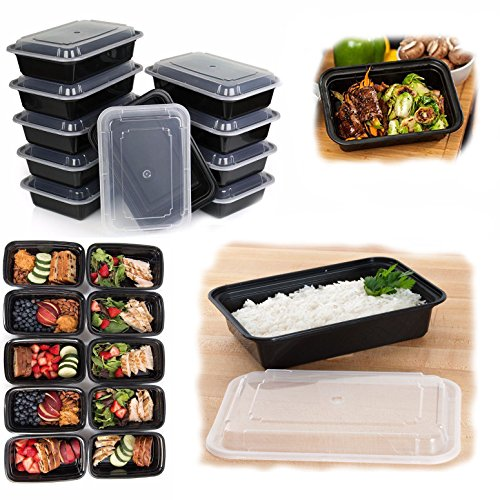 10-Pack-Food-Storage-Lunch-Box-Set-Portion-Control-Meal-Prep-Reusable-Containers