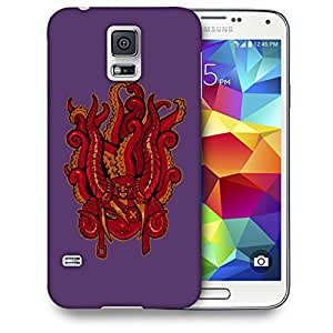 Snoogg Face With Octapus Designer Protective Back Case Cover For SAMSUNG GALAXY S5