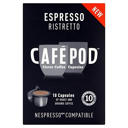 Choose CafePod Ristretto Nespresso Compatible Coffee Capsules 10 per pack by CafePod