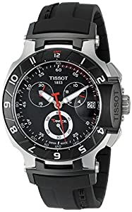 Tissot Men's T0484172705100 T-Race Black Chronograph Dial Watch