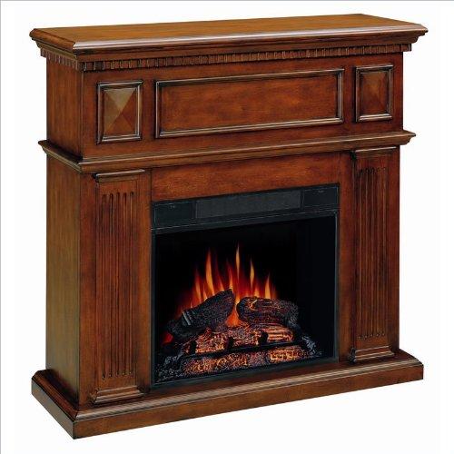 Coaster Mahogany Electric Fireplace picture B00489TXJS.jpg