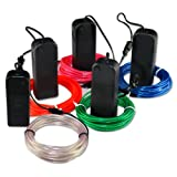 Zitrades EL Wire Red Blue Green White Pink Neon Glowing Strobing 9ft Electroluminescent Wires 4 Modes Battery Operated For Burning Man Cosplay Dress Halloween Christmas Party Decoration Indoor Ourdoor