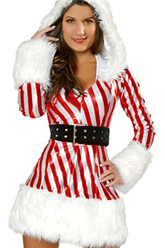 Dear-Lover Women's Sexy Candy Cane Costume