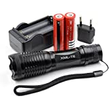 Ultrafire 12w 1800lm Zoomable Cree Xm-l T6 Led Flashlight Torch 2x 18650 Charger Lampe de poche