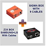 Z3X Box Samsung + LG (Metal Edition) & Sigma Box with cables