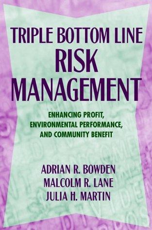 Triple Bottom Line Risk Management Enhancing Profit Environmental