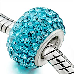 Aquamarine Color Bead - Pandora Charm & Bracelet Compatible