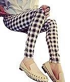 (ミウォルナ) Miwoluna マタニティ ストレッチ パンツ ズボン チェック柄 ウエストゴム 調整可能 美脚 足長 ホワイト XL