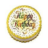 Lucks Edible Image, Happy Birthday Ribbons