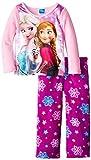 Disney Little Girls'Anna Elsa and Olaf Cozy Fleece Sleep Set