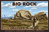 Big Rock - Okotoks, Alberta - World's Largest Glacial Erratic (16x24 Giclee Print)