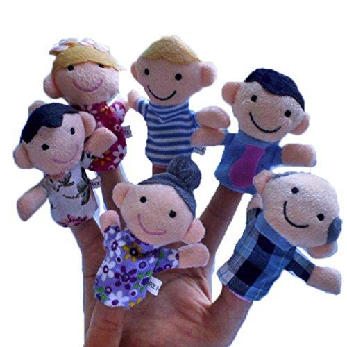 Dreaman 6Pcs New Soft Family Member Puppet Baby Finger Plush Toys