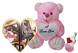 Valentine Gift For Girls - Teddy, Love Card & Love Showpiece