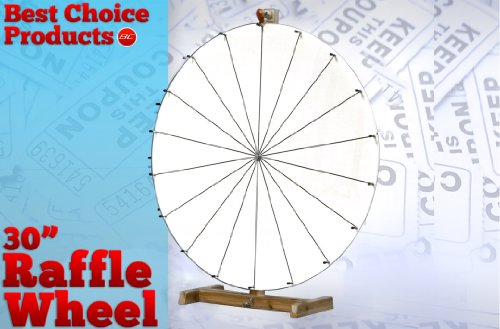 "New 30"" Dry Erase White Prize Wheel Carnival Spinning Office Game Work Party"