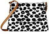 Snoogg Black Abstract Paint Designer Womens Carry Around Sling Bags