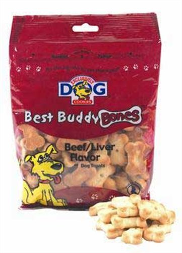 Image Exclusively Pet Best Buddy Bones-Beef and Liver Flavor, 5-1/2-Ounce Package