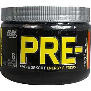 Optimum Platinum PRE- - 6 Servings - Fruit Punch - Exclusive