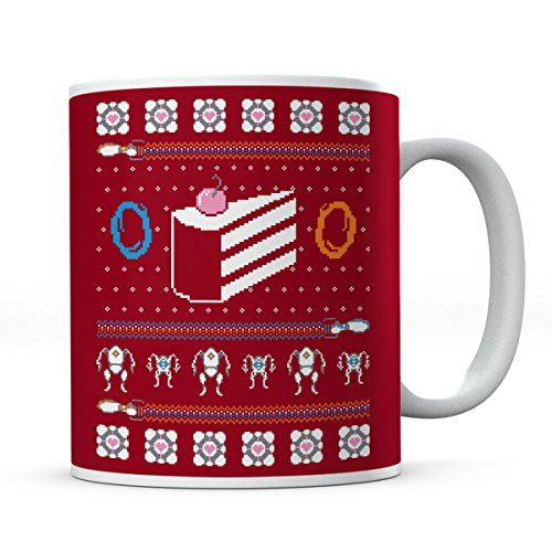 The Christmas Cake Is A Lie Portal II Mug