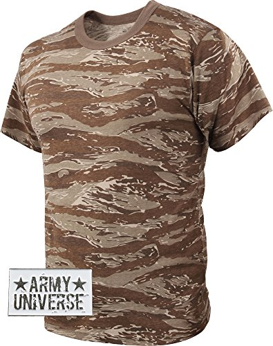 Desert Tiger Stripe Camouflage T-Shirt with ARMY UNIVERSE® Pin - Size 2X- 98fe0e79265