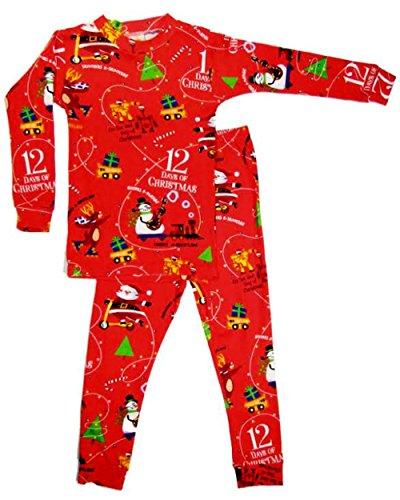 Christmas Pajamas - 12 Days Of Christmas Boys With Bracelet For Mom (24 Months)