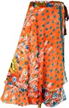 Printed Womens Magic Wrap Around India Clothing Multicolor