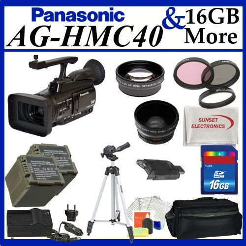 Panasonic AG-HMC40 AVCCAM HD Camcorder + Best Value Lens Starter Package