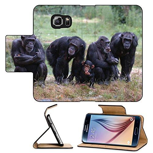 Luxlady Premium Samsung Galaxy S6 Flip Pu Leather Wallet Case When Monkey s Go Bad IMAGE ID 221188