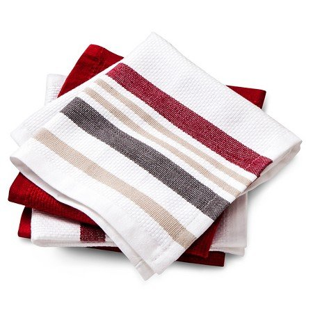 New Dishcloths 4 Pack Red Basket Weave (Threshold Dishes compare prices)