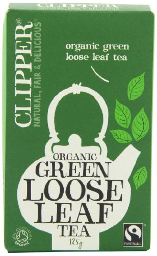 Clipper Organic Green Loose Leaf Tea 125 g (Pack of 6)