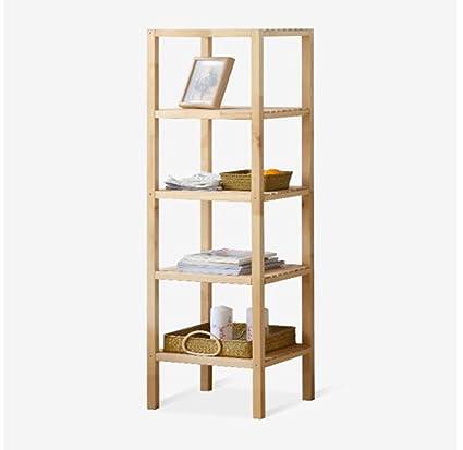 estable Estantería de madera sólida de cinco capas incorporada Simple y elegante