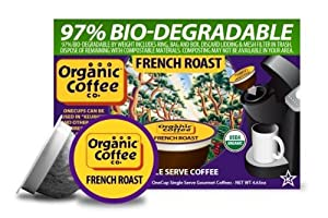 The Organic Coffee Co., French Roast, 12 OneCup Single Serve Cups