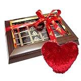 Happiness In Chocolate Box With Heart Pillow - Chocholik Belgium Chocolates