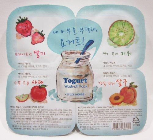 4種の果物とヨーグルトのパック エチュードハウス ヨーグルトウォッシュオフパック Yogurt Washーoff Pack