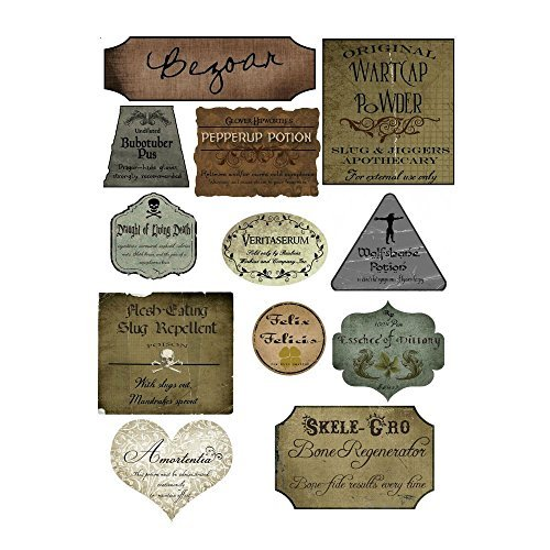 Harry Potter Halloween 12 potion assorted label stickers scrapbooking crafts (Harry Potter Halloween Decorations)