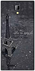 Snoogg Eiffel love Designer Protective Back Case Cover For Micromax Canvas Express A99