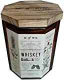 Makers of Wax Goods Rich & Bold #1 Whiskey Wood-Wick 11.4 Oz. Candle In Glass.
