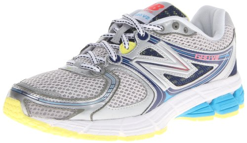 New Balance Women'S W680 Neutral Running Shoe,Grey/Blue,8 B Us