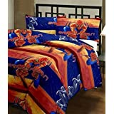 Renown Spider Man Cartoon Print Reversible Poly Cotton Single Bed AC Blanket / Dohar