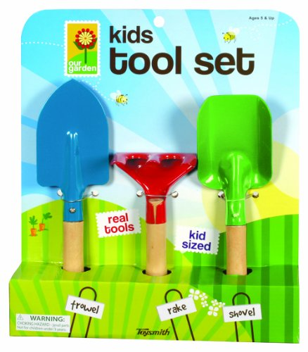 Toysmith- 2296 Kid's 3-Piece Garden Tool Set